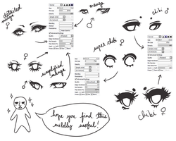 Eye Ref + sai brushes by cuteincarnate