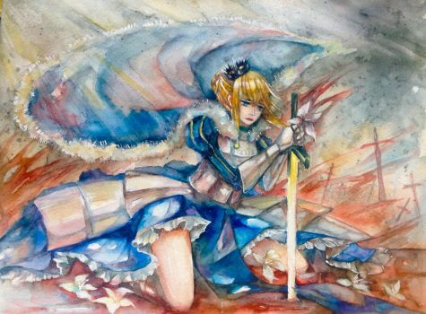 Fate - King Arturia by luo-chan