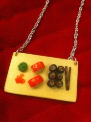 Sushi Board Necklace by purplsox