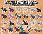 Dragons of the Realm: Earth Dragon Collection by GoldenstarArtist