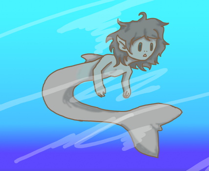 Dolphin boy by Shinigami-cat