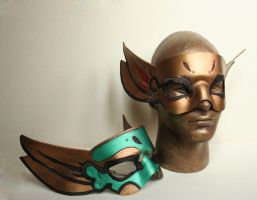 Thai inspired Handmade Leather Masks by nondecaf