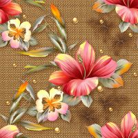seamless texture with flowers and  ornaments by Lyotta