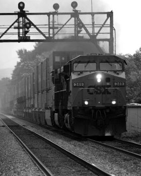 CSX 349 West by VulgarDisplayOfHench