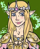 Zelda - Graceful Warrior by Little-Birds-Art