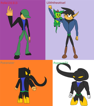Dimension Swaps of Alpha Demon set #2 by Thesimpleartist4