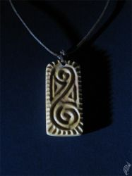 Cookie pendant relief by steelraven