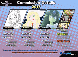 Commission Details 2017 [OUTDATED] by GamefreakDX