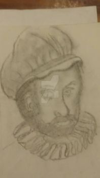 Old English Man Sketch by MHuang51491
