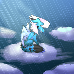 Manon in Rain [Redraw] by WIKUNIAK2