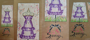 WIP 4, Mirabilia's Dressmaker's Daughter: Spring by pinkythepink