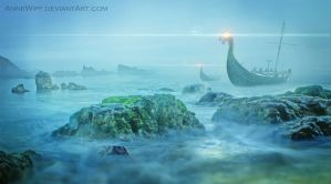 The Danger Rises from the Sea Mist by annewipf