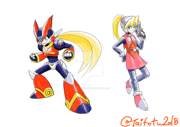 MMX Styled Zero and Ciel by ScarletReisen