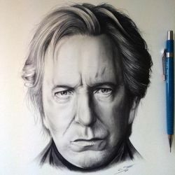 Alan Rickman - Tribute Drawing by LethalChris
