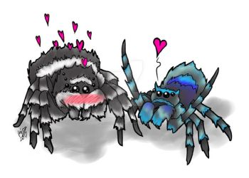 Spiders In Love by savagedryad