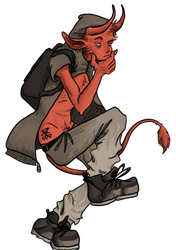 The Cute Demon Lad by WickedWormwood