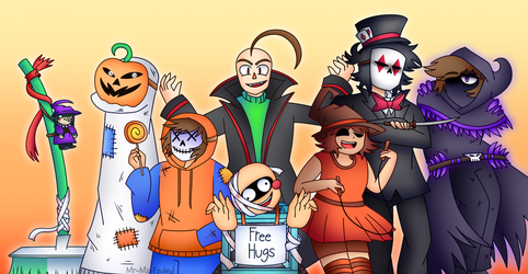 Halloween costumes by Mr-Ms-Faded
