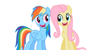 Rainbow Dash and Fluttershy Singing by JollyDave