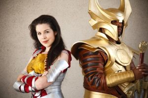 Sif and Heimdall by miss-kitty-j