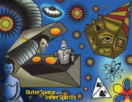 Outer Space vs. Inner spirits by Kayo-siddhi