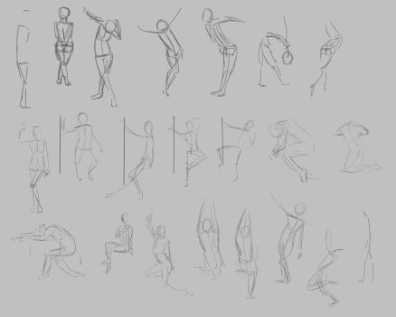 Gesture Drawing Practice 1 by optimismeBoo