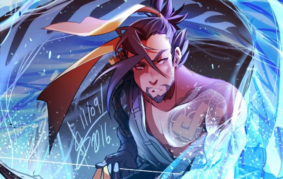 Overwatch - Hanzo by ABD-illustrates