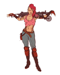 Zarana colored by Deimos-Remus