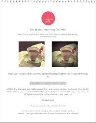 Vintage Vignetting Tutorial by regularjane