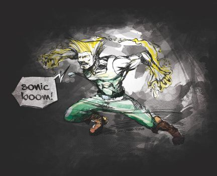 Guile Sonic boom by dreamblack