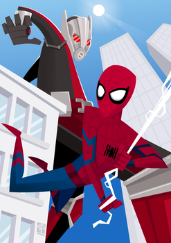 Ant Vs Spider(MCU) by placitte2012