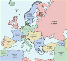 Map of Europe 1938 (Rumelia Universe) by xpnck