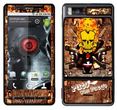 Customized Cell Phone skin original theme by VirulentMedia