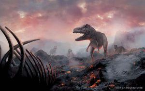 Land of the T-rex by yilin-tan