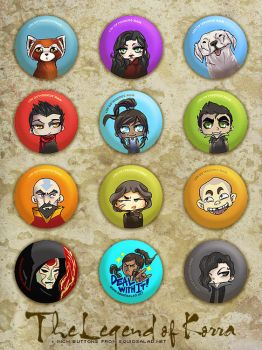Legend of Korra Buttons by Tsubasa-No-Kami
