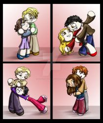 Chibi Cullens by thedustyphoenix