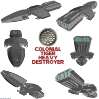 Colonial Tiger Heavy Destroyer (TOS) by Chiletrek
