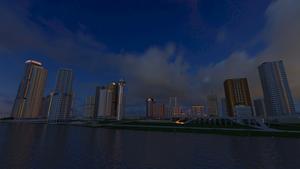 Downtown Greasy Springs City[Night] by DanqueDynasty