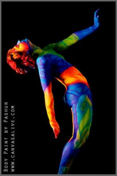 Neon body art II by Cyndii007