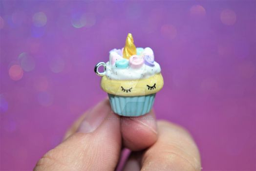 Unicorn Cupcake Charm by lyssacrafts