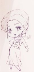 Belle chibi sketch by Ailionora