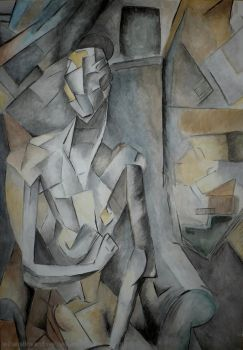 Picasso's Nude in Watercolour by WillAustinsArchive