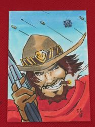 McCree, Overwatch (Timmins con 2018 comission) by SoVeryUnofficial