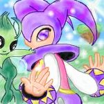 NiGHTs and Celebi aka Serebi by SonicRose