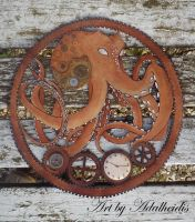 Steampunk Octopus by adalheidis
