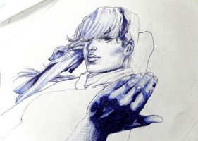 Rogue - ballpoint practice by britolitos96