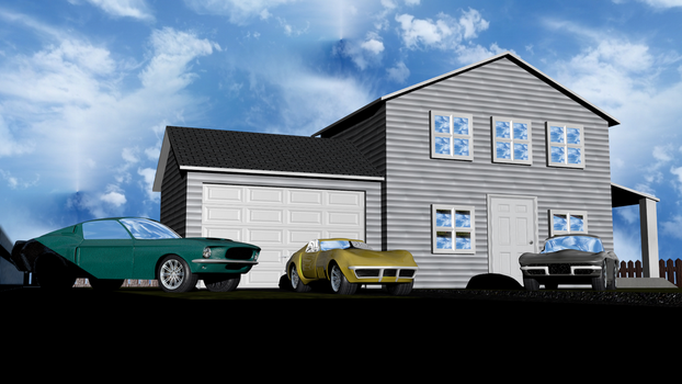 House And Cars by Mechaghostman2