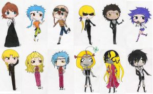 D. Gray-Man Chibis 1 by obsessionxalways