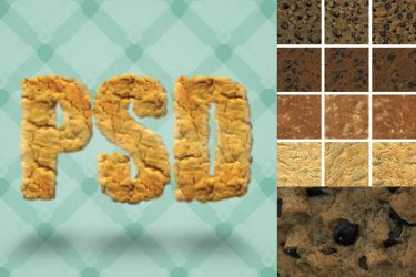 12 Delicious Seamless Cookie Textures by pstutorialsws