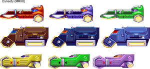 Mega Man X8 Vehicles in 32 Bits by IrregularSaturn