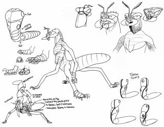 Insectoid Reference Sheet by frazamm